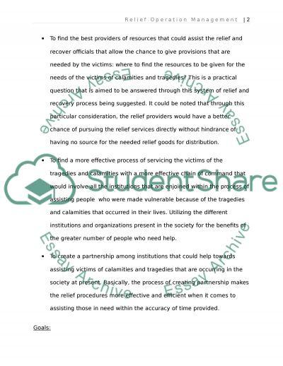 MHE512 Disaster Relief Module 3 SLP essay example