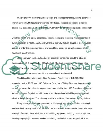 The importance of Occupational Health and Safety studies essay example