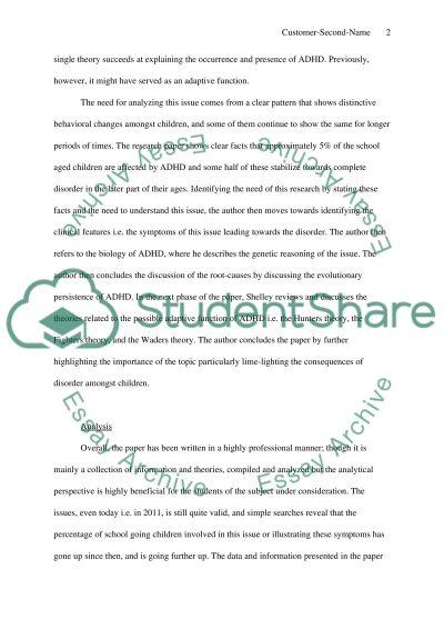Critique essay example