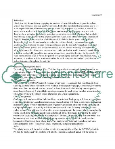 INTASC principle #5 essay example