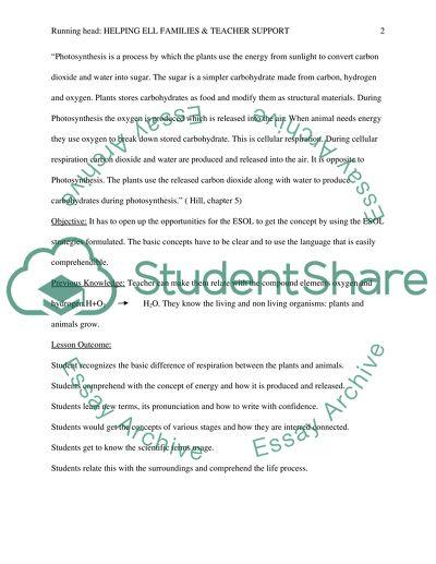 Week 10: Helping ELL Families & Teacher Support - Final Project esol