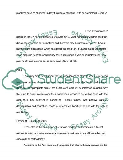 Renal Failure essay example
