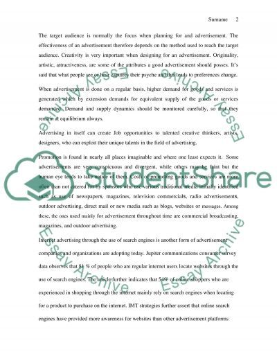 Types of Advertising essay example