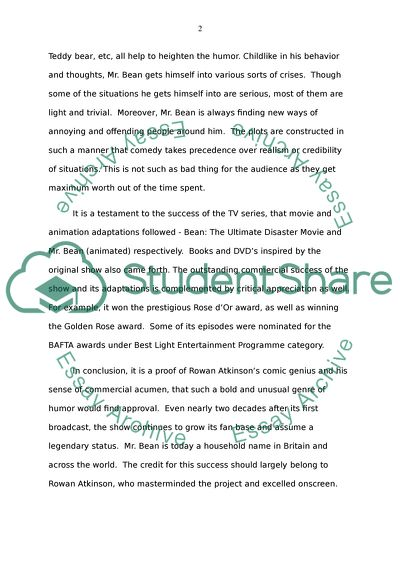 High School Graduation Essay A Profile Of Mr Beans Carrier In Comedy How To Write An Application Essay For High School also Healthy Lifestyle Essay A Profile Of Mr Beans Carrier In Comedy Essay Example  Topics And  Apa Format Essay Example Paper
