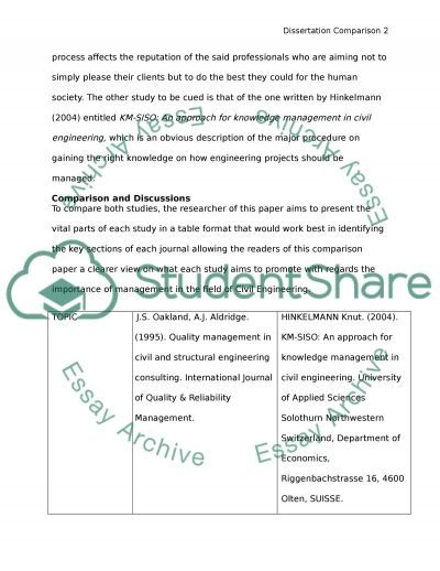Management in Civil Engineering essay example