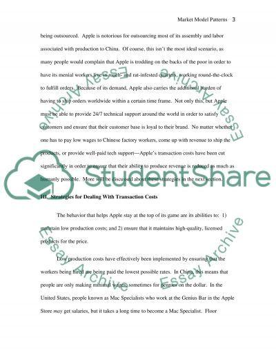 Market Model Patterns of Change: Apple Corporation essay example