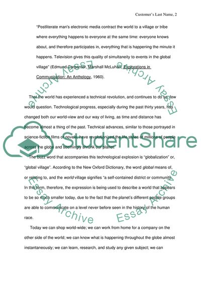 Essays On English Literature Is The World Really Becoming A Global Village Essay About Learning English also Romeo And Juliet Essay Thesis Is The World Really Becoming A Global Village Essay Conscience Essay