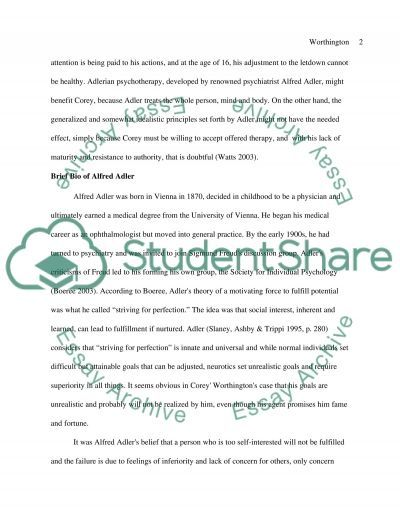 Corey Worthington Delaney essay example