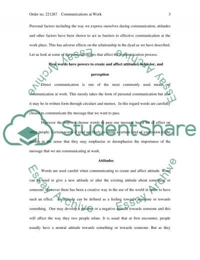 Communications at Work essay example