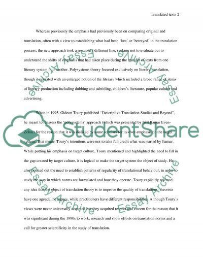 Translation as a normgoverned activity essay example