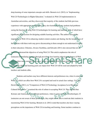 Web 2.0 for engaging and collaborative learning in higher education