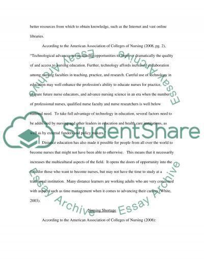 History of Nursing Higher Education essay example