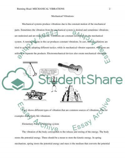 Mechanical vibrations essay example
