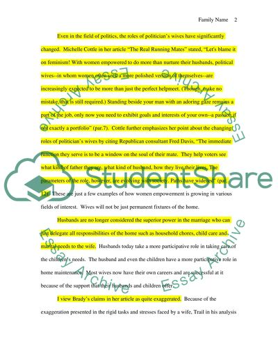 Argument Style Essay Based On Judy Bradys Argument In I Want A Wife Argument Style Essay Based On Judy Bradys Argument In I Want A Wife Essay Proposal Format also Write My Papaer  Sample Essay For High School Students