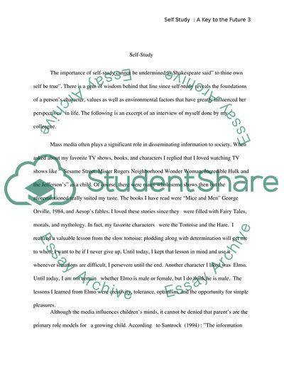 self study essay