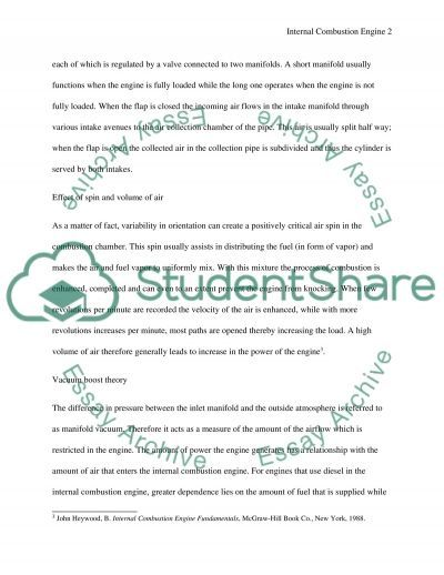 History of Internal Combustion Engine essay example