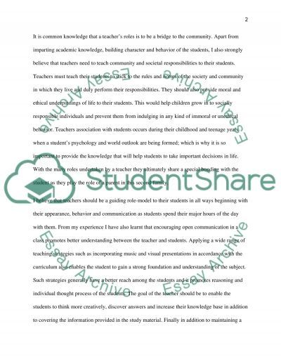 Journey in the Faculty of Education essay example