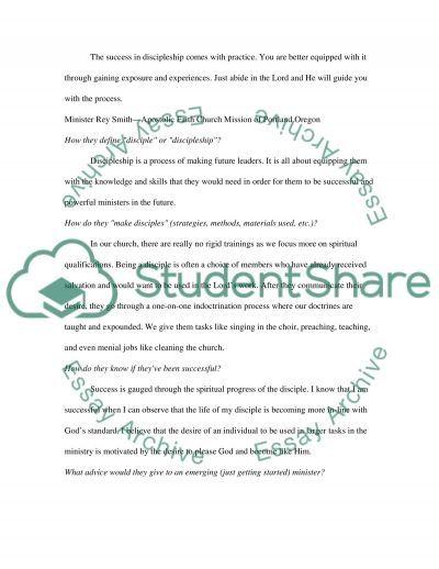 Interview Essay essay example