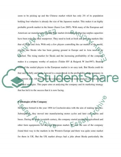 Skoda Business Strategy essay example