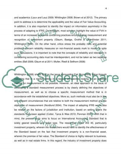 defining fair value essay