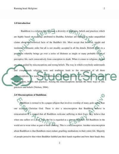 Misconceptions of Buddhism Research Paper Research Paper example