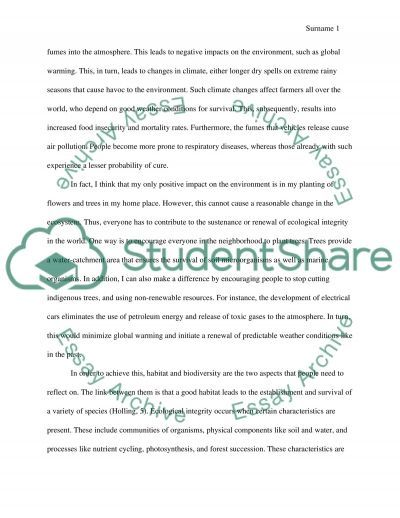 Student action plans