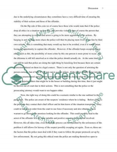 Ethics of Policing:Knocking Before Entering essay example
