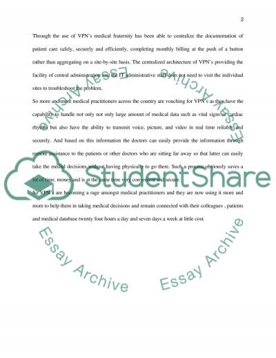 Virtual Private Network essay example