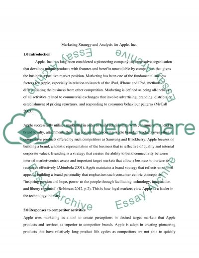 Leading the Way - A Marketing Plan for Sustainable Competitive Advantage Essay example