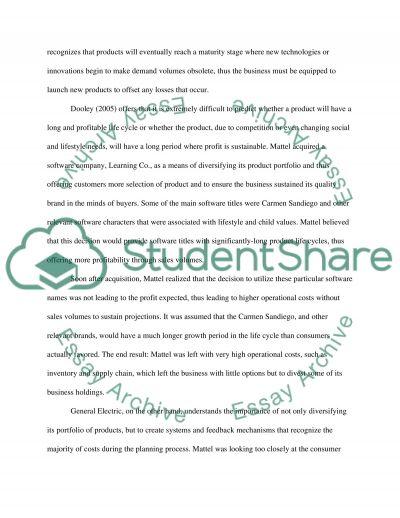 Cost Management Essay essay example