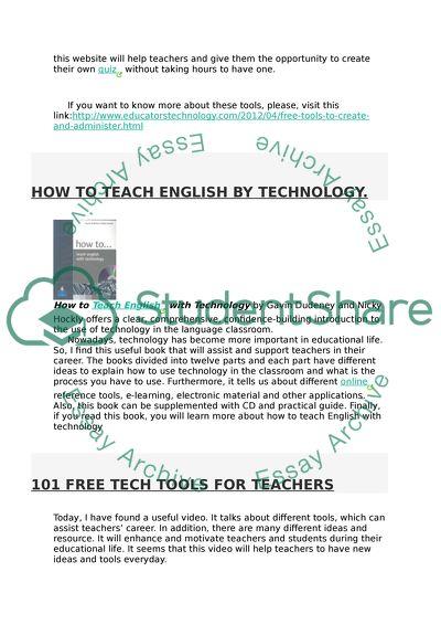 MA TEFL: Technology in TEFL