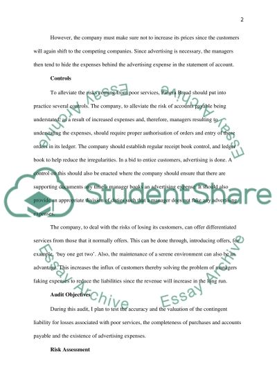 Audit of Panera Bread Company Quality Service and Market Share Process essay example