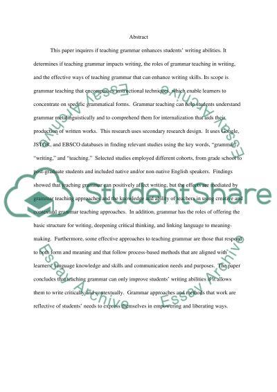 essays on teaching grammar Home english grammar 10 websites to learn and practice english grammar  here are the 9 websites to learn and practice english grammar 1  essays, reports.