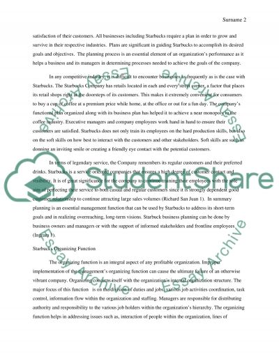 Starbucks Company Research Paper