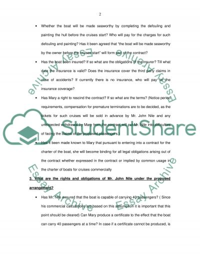 Contract Law-Commercial Purpose assignment essay example