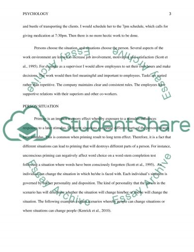 Person-Situation Interaction essay essay example