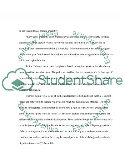 Law Evidence essay example