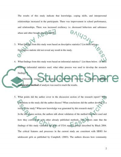 NURSING RESEARCH LITERATURE ( REPORT) essay example
