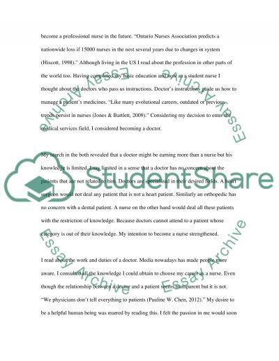 Nursing Professional Collaboration - Developing Professional Identity essay example