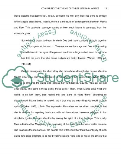 Element of Literature essay example