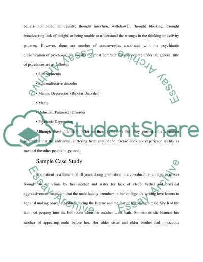 Psychosocial Interventions With Psychosis essay example