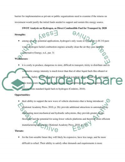 Renewable Energy essay example