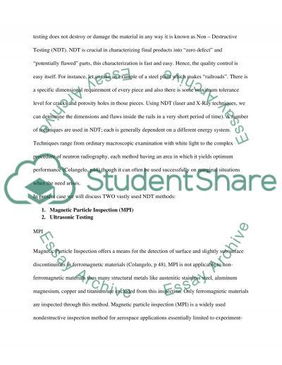 Non-Destructive Testing essay example
