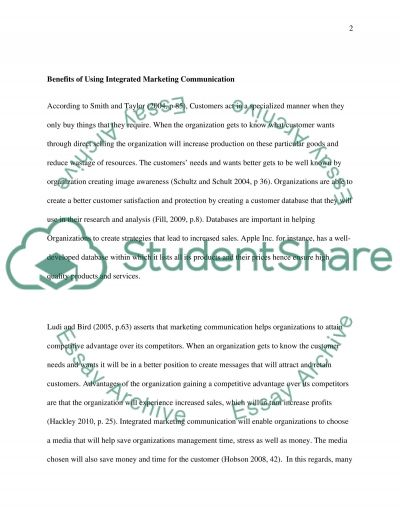 Integrated Marketing Communications Essay example