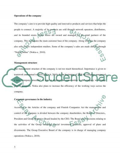 Report nokia company from 2003 -2008 essay example