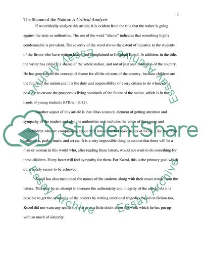 critical essay example pdf