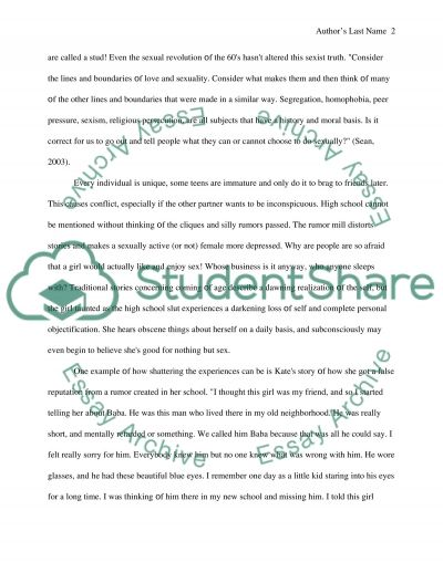 Teenagers and their awareness about sex essay example