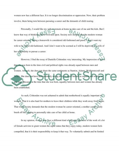 Women Role in Society essay example
