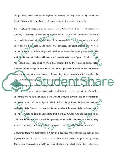 Art essay, statement and analysis
