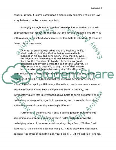 scarlet letter essay rubric